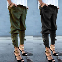 Women Loose Camo Cargo Trousers Casual Pant Military Army Cargo Pants For Women