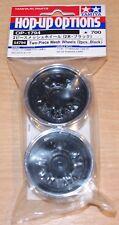 Tamiya 54794 Two-Piece Mesh Wheels (2 Pcs, Black) (TT01/TT02/TA02/TA03/TL01)