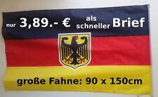 Deutschland Fahne Flagge 90x150 mit Adler Flagge NEU Blitzversand