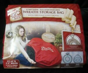 """WREATH Storage SB-10128-SE 30"""" Santa's Bags Direct Suspend System Red Zippered"""