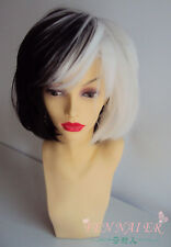 New Popular 30cm Short Black And White Cosplay Wig