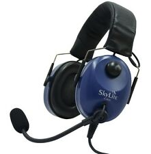 SL-800 SkyLite Aviation Pilot Headset wt Gel, GA Dual Plug + Free Bag *Foldable*
