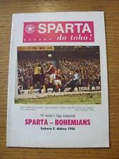 05/04/1986 Sparta Praha v Bohemians Praha  (No apparent faults).