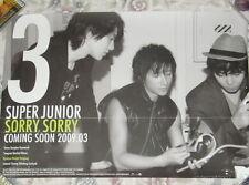 Super Junior Sorry 2009 Taiwan Promo Poster (C ver.) Kyu Hyun ,Kang In ,Han Geng