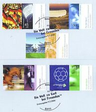 BRD 2006: deporte ayuda nº 2517 - 2521 con bonner ersttagssonderstempeln! 1a 1510