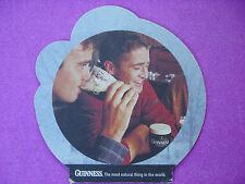Beer Pub Coaster ~ GUINNESS Brewery ~ 4 Natural Ingredients: Hops, Yeast, Water+