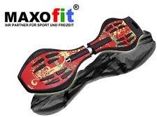Waveboard MAXOfit XL Hot Pepper, bis 95 kg mit Leuchtrollen