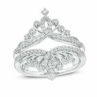 14K White Gold Over 2.00 Ct Round Cut Enhancer Wrap Engagement Wedding Ring Band