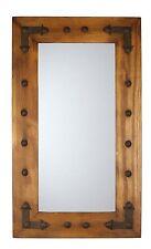 Rio Grande Mirror-Wood-Mexican-20x34-Rustic-Cowboy-Clavos-Western-Lodge