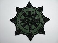 BAPHOMET CHAOS  BLACK  EMBROIDERED PATCH