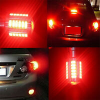 4x AUXITO 1157 BA15D 2357 Red LED Turn Signal Brake Stop Tail Side Light Bulbs