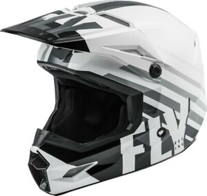 Fly Racing Kinetic Thrive Helmet White/Black/Grey Youth Small 73-3502YS Open Box