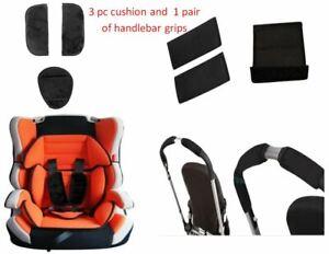 3 pc Cushion Cover Pad Handlebar Slip Grip for Graco Baby Kid Stroller Car Seat