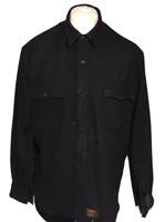POLO Ralph Lauren Men's Casual Shirt Navy XL Wool Blend Fleece Vintage