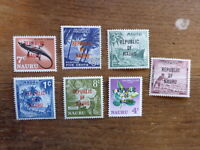 NAURU 1968 LOCAL MOTIVES SET 7 MINT STAMPS