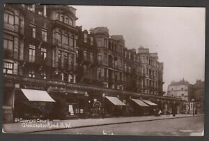 Postcard South Kensington London flats St George's Court Gloucester Road 1911 RP