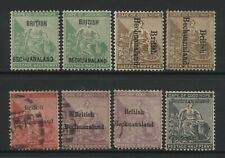 Bechuanaland Collection 8 Cape of Good Hope Ovprt Stamps Used / Unused Mounted