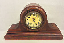 Antique Ingraham Clock Tambour Case with Arabic Numerals Bell & Gong Strike Ru