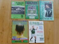 Plymouth Argyle v York City football match programmes x 5