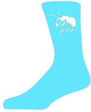 High Quality Turquoise Socks With a White Ant, Lovely Birthday Gift