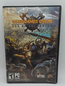 Warhammer Online: Age of Reckoning (PC, 2008) DISC ONE (2) with Case & Manual