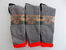 Ruggeds Made In USA Mens Cotton Blend Thermal Crew Socks Size 10-13 Six Pairs