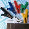 6pcs 6 Colors Test Alligator Clip for 4mm BANANA Plug Multimeter Pen Test Probe