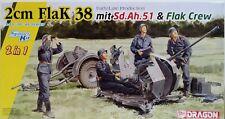 Dragon Models 1/35 Scale Kit 6942 2cm Flak 38 W/sd.ah.51 Trailer and Crew.