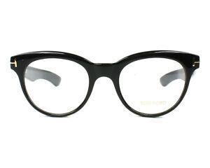 Tom Ford TF 5378 Shiny Black Bold Round Eyeglasses Frame 49-20-145 FT5378 Italy