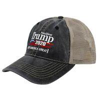 Trump Hat 2020 Make America Great Again MAGA Mesh Baseball Cap Trucker Hat