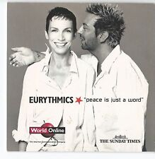 EURYTHMICS - PEACE IS JUST A WORD - 2000 THE SUNDAY TIMES PROMO AUDIO & ROM CD