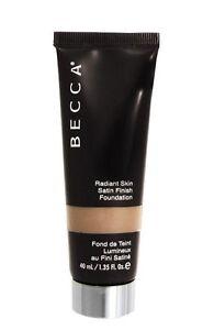 BECCA Radiant Skin Satin FInish Foundation SAND 1.35 oz / 40 ml NIB