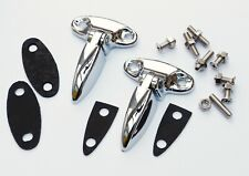 Mini & Cooper Chrome Plated Boot Hinge set with Gaskets & Fixings, BMC 8B12601