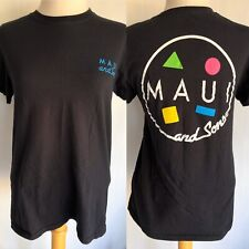 MAUI AND SONS Official Women's Retro Logo Surf & Skate T-Shirt Size Small