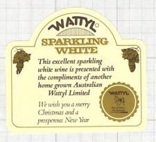 AUSTRALIA Liebich & Son Rowland Wattyl Sparkling wine label C1701