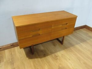 MID CENTURY RETRO 60'S TEAK CHEST OF DRAWERS BY GUNTHER HOFFSTED FOR UNIFLEX