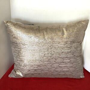 """Hudson Park Mica Sequin 16"""" x 20"""" Decorative Pillow Gold Copper"""