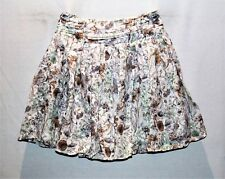 Portmans Brand White Floral Pleated Skirt Size 6 BNWT #TO73