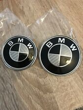 BMW 74mm & 82mm Carbon Bonnet & Rear Boot Badge 1 3 5 6 M Series - New!