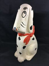 Vintage Large Dalmatian Figurine Piggy Bank Cut Puppy Figure Decor *As-Is*