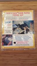 NOS VTG Bud's Research Paper Typing Guide 1979 Easy Term Paper Typing Kit