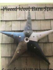 PRIMITIVE FOLK ART WOOL BARN STAR SEWING PATTERN, CRAFTS