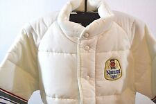 VTG Natural Light White Winter Jacket A & E Collection S USA Snap Front NWOT