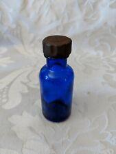 Vintage Small Cobalt Blue Bottle