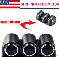 "Universal Car Auto Black 2"" 52mm 3 Triple Hole Dash Gauge Pod Mount Holder Abs"