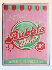 Blechschild Metallschild Retro Vintage Nostalgie Bubble Gum 30x40 Cm