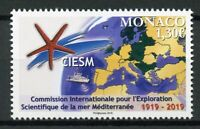 Monaco 2019 MNH CIESM Mediterranean Science Commission 1v Set Boats Ships Stamps