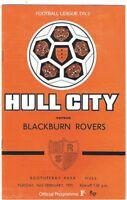 Hull City v Blackburn Rovers 1970/1