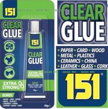 NEW Clear Glue Adhesive Glue Resin Bond Repair Metal Wood Plastic