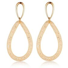 2.83'' Austrian Crystal Wire Mesh Net Drop Earrings 18k Rose GP Women Gift CE163
